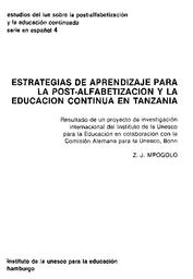 Estrategias De Aprendizaje Para La Post Alfabetización Y La