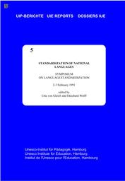 Standardization Of National Languages Unesco Digital Library