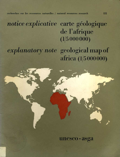 Carte Geologique Australie.Geological Map Of Africa 1 5 000 000 Explanatory Note