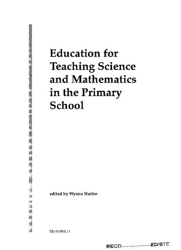 Education for teaching science and mathematics in the