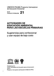 Actividades De Educación Ambiental Para Las Escuelas