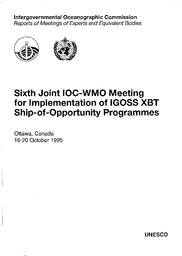 Joint IOC/WMO Meeting for Implementation of IGOSS XBT Ship