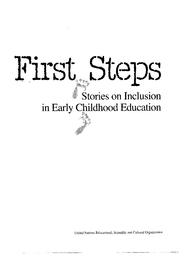 The Early Grades Are Key To Equalizing >> First Steps Stories On Inclusion In Early Childhood