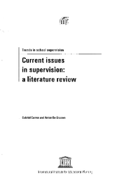 Current Issues In Supervision A Literature Review Unesco