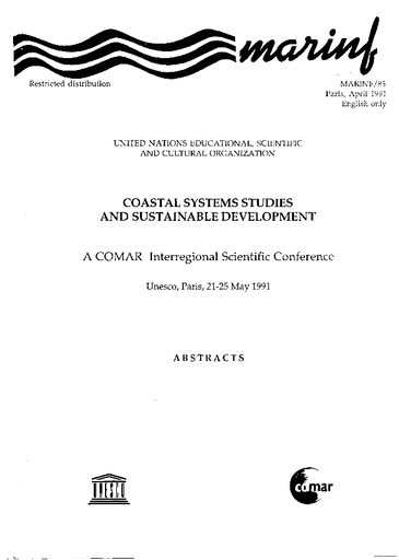 Coastal systems studies and sustainable development