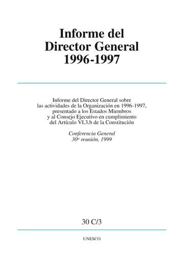 Informe Del Director General Sobre Las Actividades De La