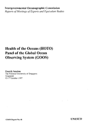 Health of the Oceans (HOTO) Panel of the Global Ocean ...