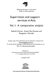 National Diagnosis On Teacher Supervision And Support
