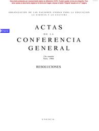Actas De La Conferencia General 13a Reunión París 1964
