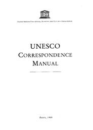 UNESCO correspondence manual - UNESCO Digital Library