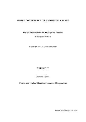 Higher Education In The Twenty First Century Vision And