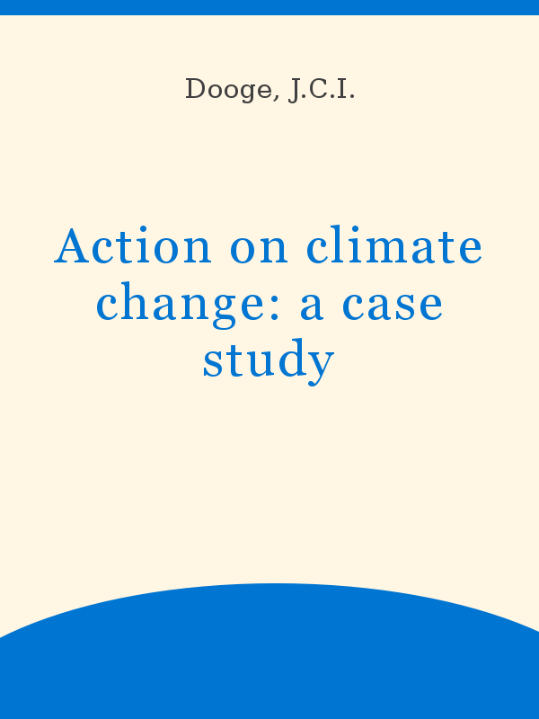 Action On Climate Change A Case Study Unesco Digital Library