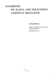 Handbook On Radio And Television Audience Research Unesco