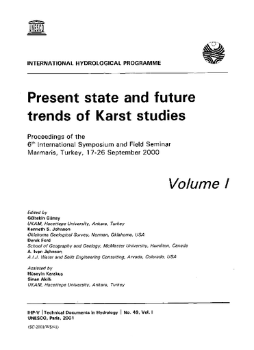 Present State And Future Trends Of Karst Studies