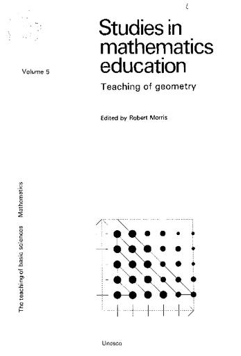 Studies in mathematics education, v  5: Geometry in schools