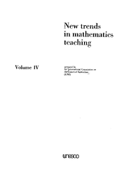New Trends In Mathematics Teaching V 4 Unesco Digital