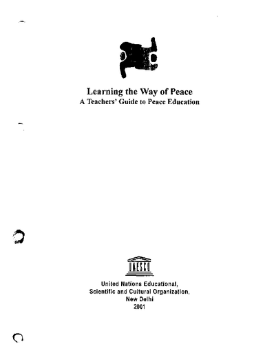 Learning the way of peace: a teachers' guide to peace