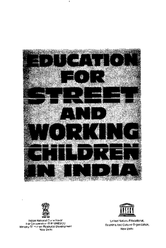 Education for street and working children in India - UNESCO