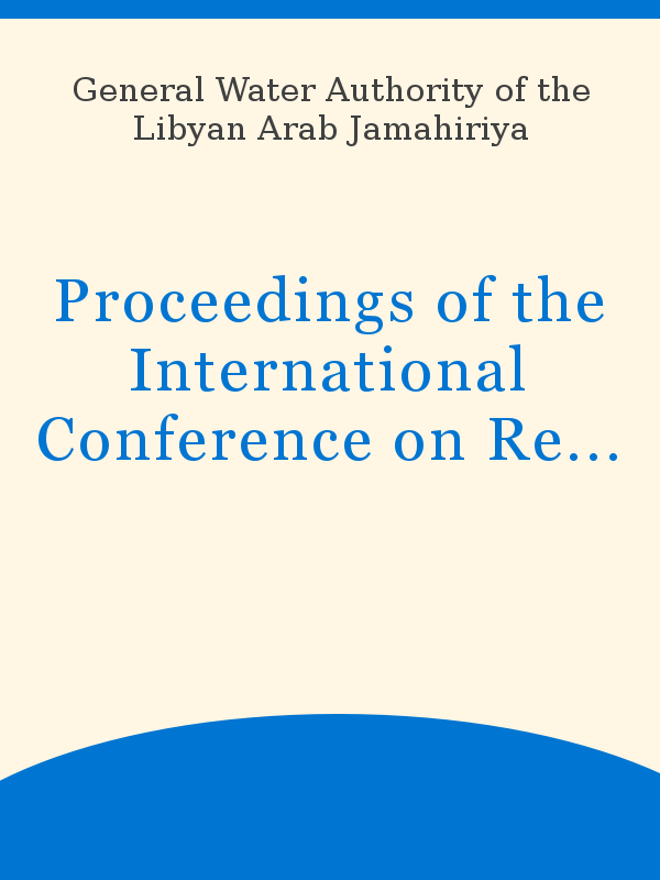 Proceedings Of The International Conference On Regional