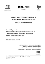 Conflict and cooperation related to international water