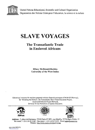 Slave voyages: the transatlantic trade in enslaved Africans