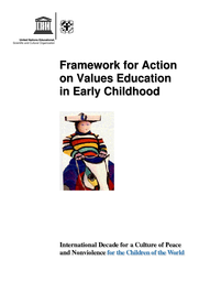 Framework for action on values education in early childhood - UNESCO