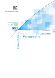 Proyecto De Programa Y Presupuesto 2004 2005 Unesco