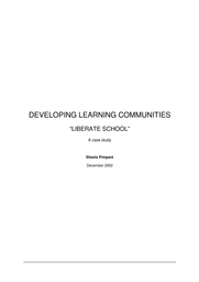 Developing learning communities: liberate school