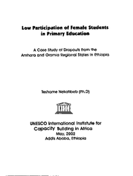 Low participation of female students in primary education: a