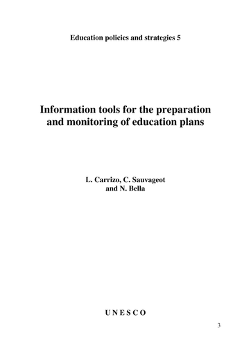 Information tools for the preparation and monitoring of education