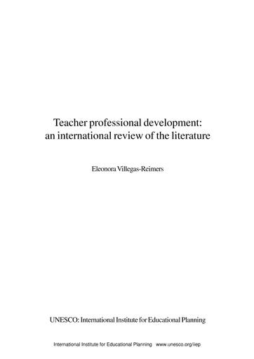 Teacher Professional Development An International Review Of The