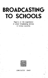 Broadcasting to schools: reports on the organization of