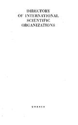 Directory of international scientific organizations - UNESCO ...