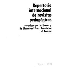 Repertorio Internacional De Revistas Pedagogicas Unesco