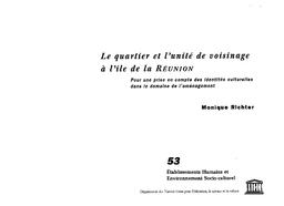 on feet at website for discount cute Le Quartier et l'unité de voisinage à l'île de la Réunion: pour ...