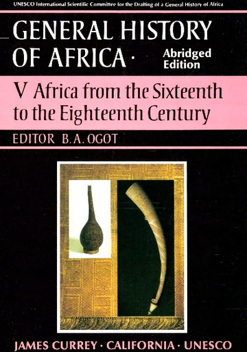General History Of Africa Abridged Edition V 5 Africa From The