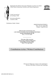 Towards A Declaration On Universal Norms On Bioethics Written Contributions Unesco Digital Library
