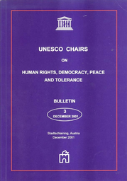 Unesco Chairs On Human Rights Democracy Peace And