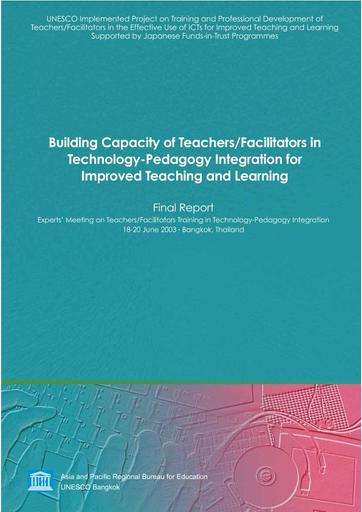 Building Capacity Of Teachers Facilitators In Technology Pedagogy