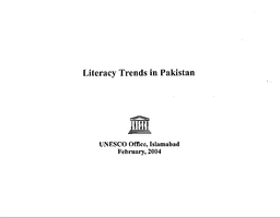 definition of literacy in pakistan
