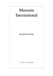 Safeguarding Intangible Cultural Heritage In The 2003 Unesco