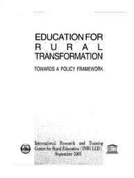 Education for rural transformation: towards a policy
