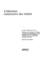 L Education Constructive Des Enfants Unesco Digital Library