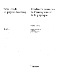 New Trends In Physics Teaching V 1 1965 1966 Unesco Digital