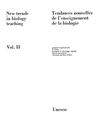 New Trends In Biology Teaching V 2 Unesco Digital Library