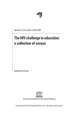 The Hiv Challenge To Education A Collection Of Essays  Unesco  Start Search Statistics Help For Students also Essay On Science  Buy An Assignment