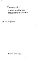 Conservation Et Restauration Des Documents D Archives