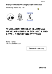 Workshop on New Technical Developments in Sea and Land Level