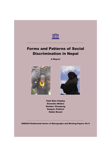 Forms and patterns of social discrimination in Nepal: a