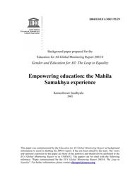 Empowering education: the Mahila Samakhya experience